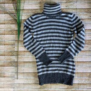 zara wool blend striped turtleneck